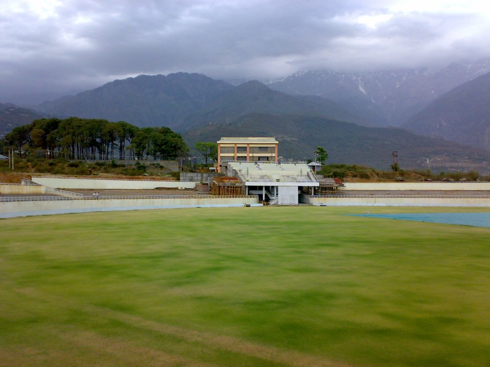 Cricket ground at Dharamshala (3/4)