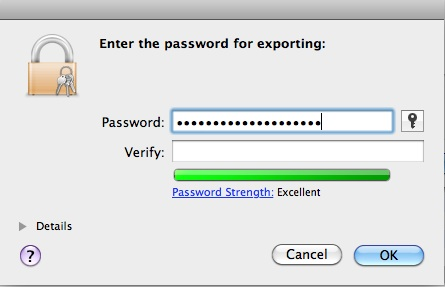 Exporting Apple Developer Certificate (4/5)
