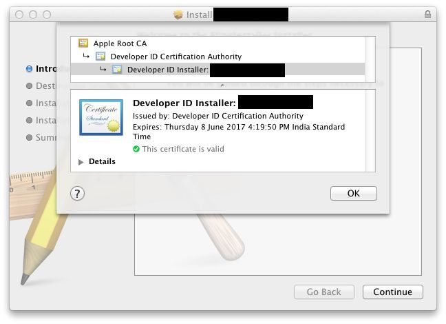 Developer ID Installer Certificate   Vishvesh\'s Blog