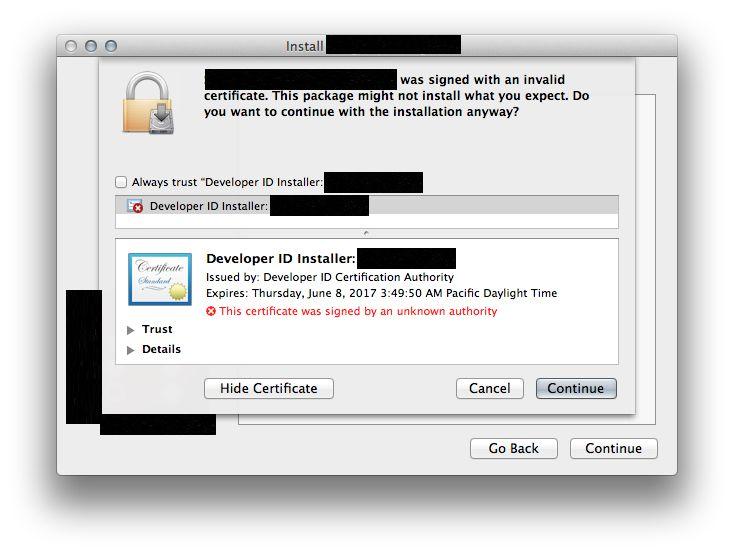 Developer ID Certification Authority | Vishvesh\'s Blog